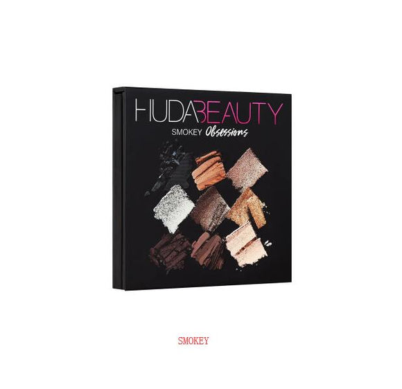Palette Hudas Beauty Eyeshadow PALETTE SMOKEY Eye Shadow 9 Colors Sombra Makeup Pallete Eyeshadow Pressed Glitter Eye Shadow