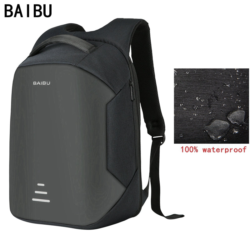 BAIBU New men 15.6 Laptop Backpack Anti Theft Backpack Usb Charging Women  School Notebook Bag Oxford f03a158207c3c