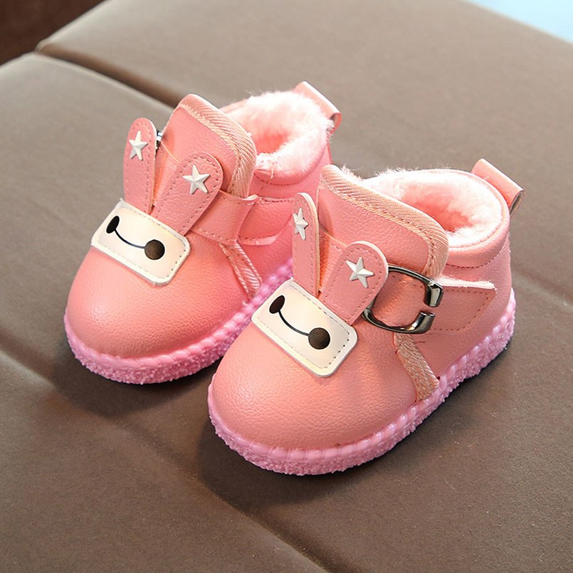 9f2bcc7eb66c9 New Winter Baby Boots Toddler Girl Snow Boots Kids Warm Shoes Girls Cartoon  Thicken Child Shoe