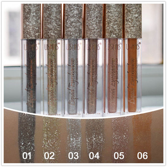 6pcs ushas liquid eyeshadow Set make up Metal Glitter Eye Shadow Liquid Stick Matte nake eyeshadows Beauty Cosmetic pallete-Makeup-Zodeys-6pcs-Zodeys