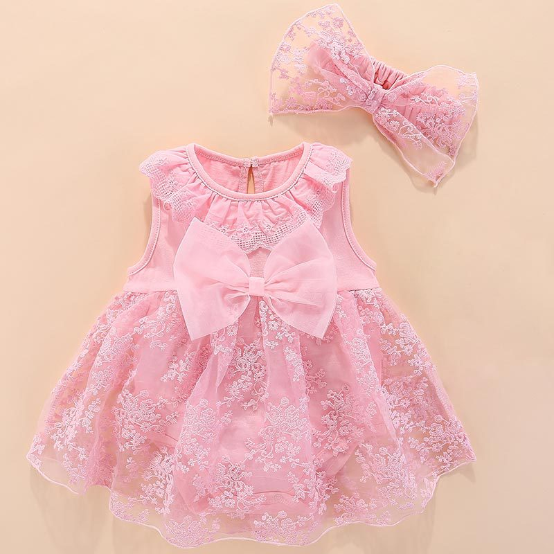 Newborn Baby Girl Dresses Clothes With Flower 3 6 9 12 Month Baby Girl