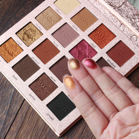 IMAGIC Eyeshadow 16 Color PALLETE Make up Matte Shimmer Pigmented Eye Shadow long lasting-Makeup-Zodeys-16 color-Zodeys