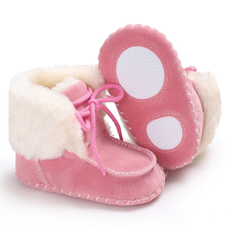 4a4c175c6197 Unisex Winter Kids Toddler Baby Boys Girls Warm Fur Snow Boots Infant