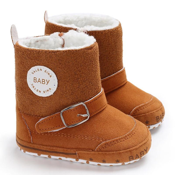 Winter baby boys girls boot russia winter infants keep warm shoes Faux fur baby booties suede Leather baby moccasins boots