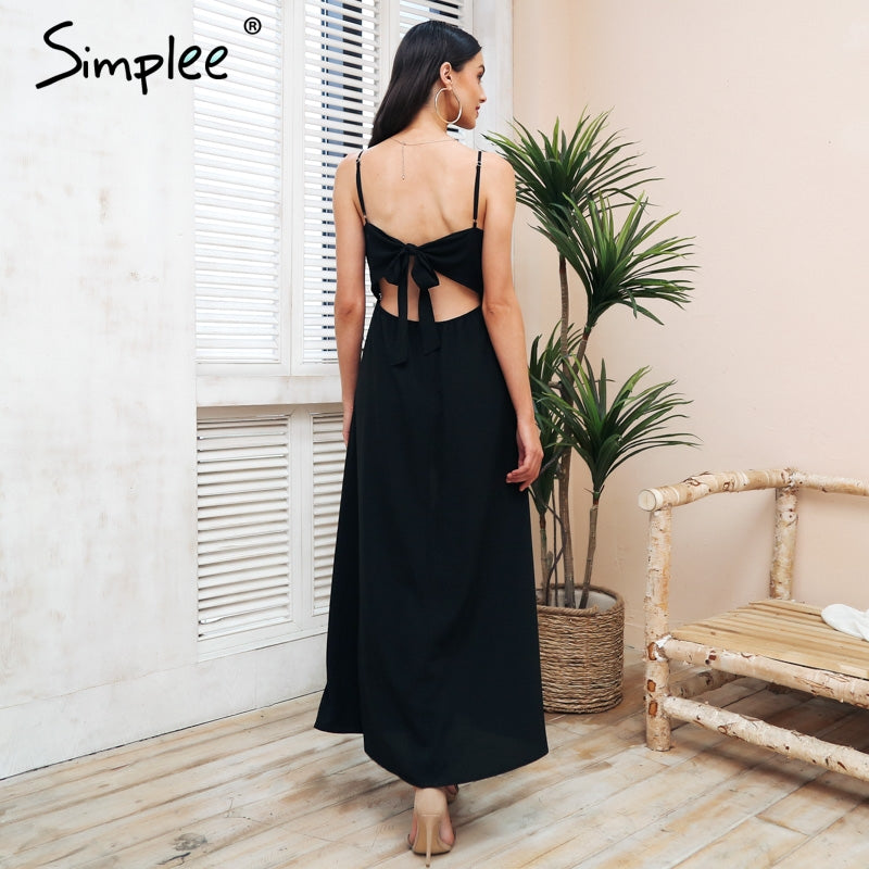 1110cfd32ebb ... Simplee Sexy strap backless summer jumpsuit Women Elegant embroidery  tie up white playsuit Hollow out casual ...