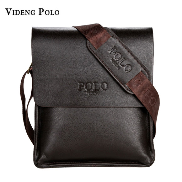 VIDENG POLO Famous Brand Leather Men Bag Casual Business Messenger Bag For Vintage Men's Crossbody Bag Male Shoulder Bags bolsas