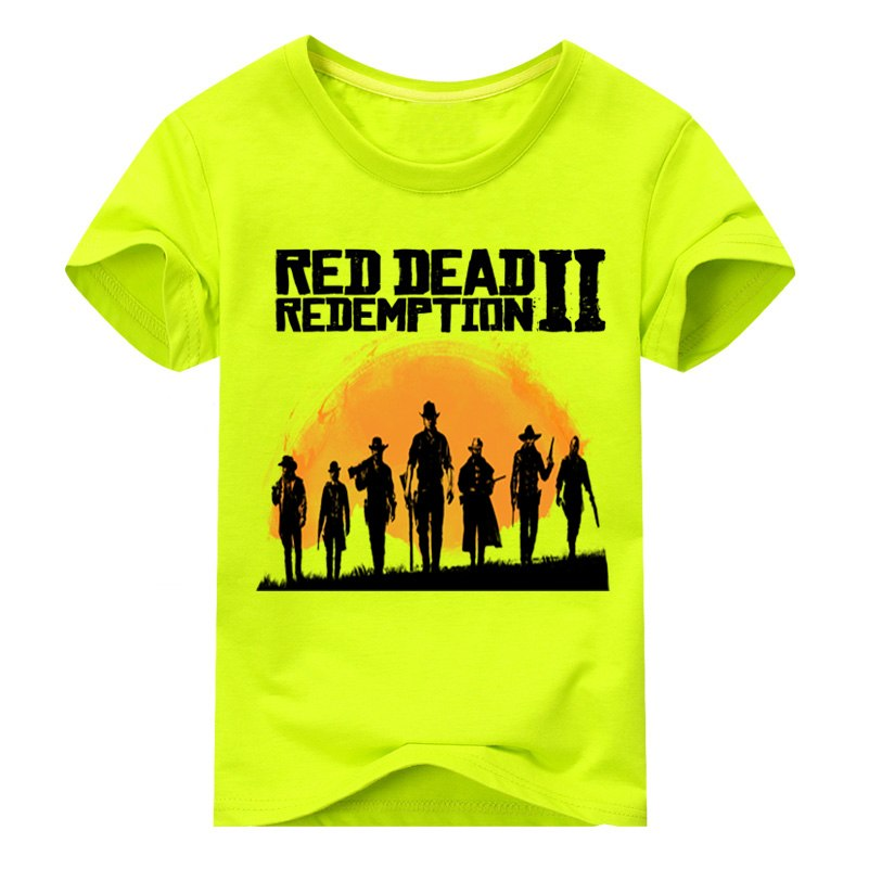 ab27257679b ... Boy Red Dead Redemption 2 Tees Top Costume For Unisex Kids Clothing  Girls Spring T-