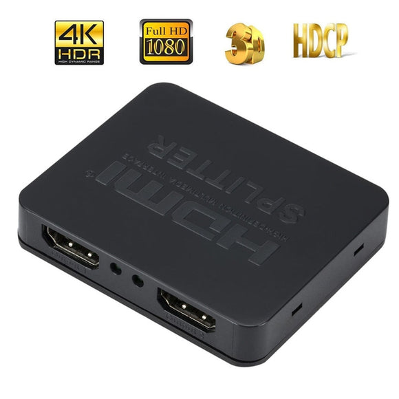 CARPRIE HDMI 1 in 2 out 1080p 4K 1x2 HDCP Stripper 3D Splitter Power Signal Amplifier td0629 Dropship
