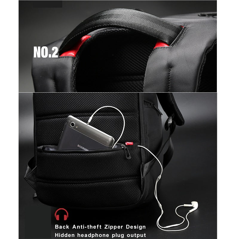 high quality laptop backpack waterproof anti-theft USB business travel bag  fashion men and women c24632653757e