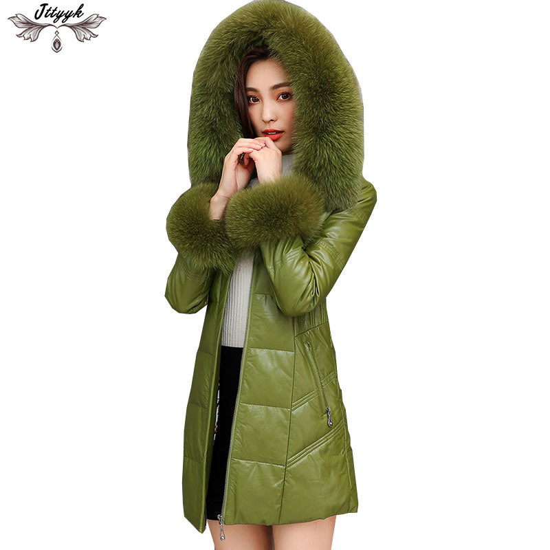 131d2ffb27e Women down jacket Plus Size Winter Jacket 90% White Duck Down Coat woman  Real fox