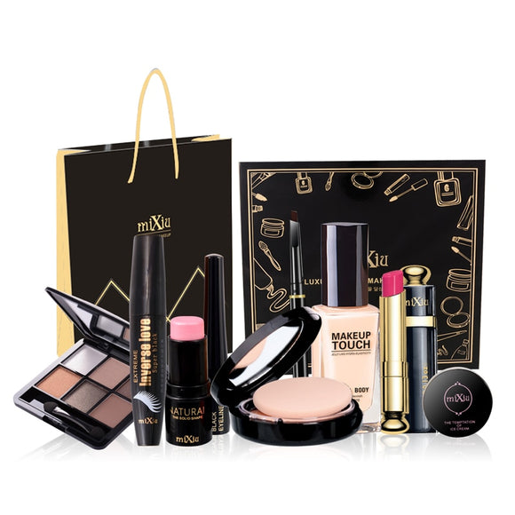 9 PCS Makeup Set Gift Make-up Set Of Cosmetics Kit Maquiagem Make Up Kit Facial Concealer Powder Eyeshadow Lipstick Eyeliner Set-Makeup-Zodeys-9 makeup set-Zodeys