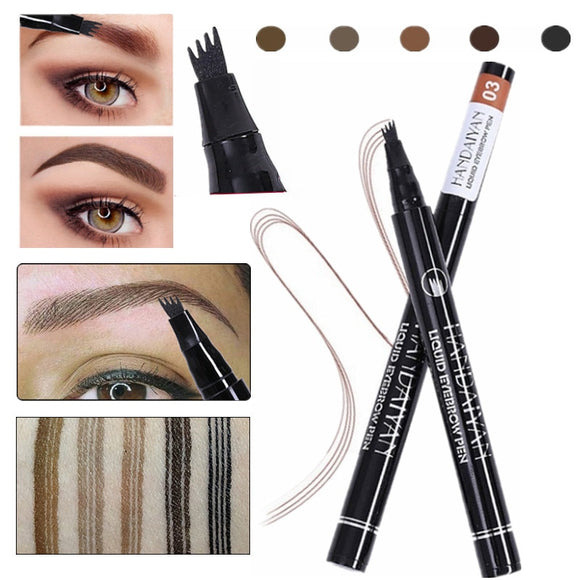5 Color Microblading Eyebrow Pencil Waterproof Fork Tip Eyebrow Tattoo Pen Tinted Fine Sketch Eye Brow Pencil Long Lasting-Makeup-Zodeys-01-Zodeys