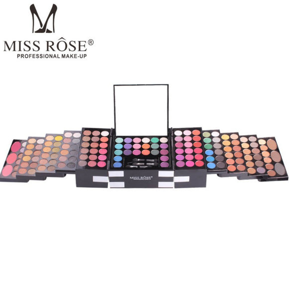 Miss Rose Brand Professional 144 Color 3 Color Blush 3 Color Eyebrow Cosmetic Makeup Kit-Makeup-Zodeys-picture show-Zodeys