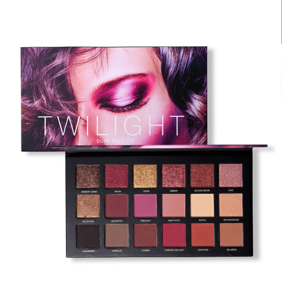 UCANBE 18 Colors Eye Shadow Makeup Palette Matte Shimmer Pigmented Twilight And Dusk Eyeshadow Powder Cosmetics Set #268860