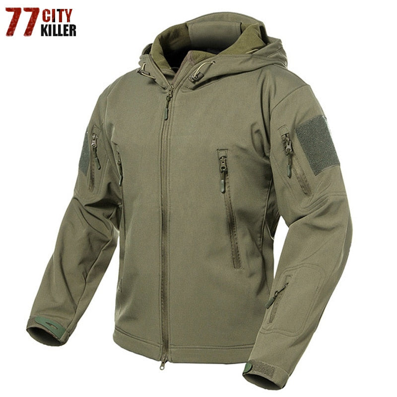 37825f050731b New 2018 Military Tactical jacket Men Plus Size 3XL Waterproof Soft Shell  Snake Camouflage Jacket Men
