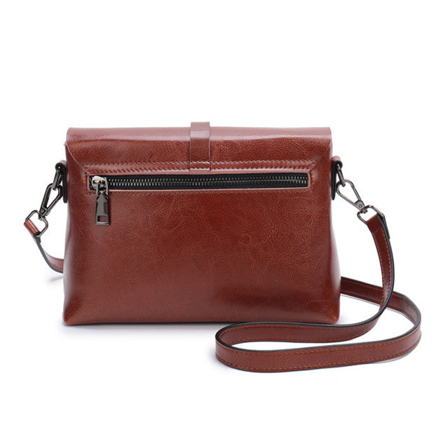 33afd3c4f11e ... NIGEDU Genuine Leather Women Messenger Bag with tassel Fashion Small Crossbody  Bag For Girl Simple Design ...