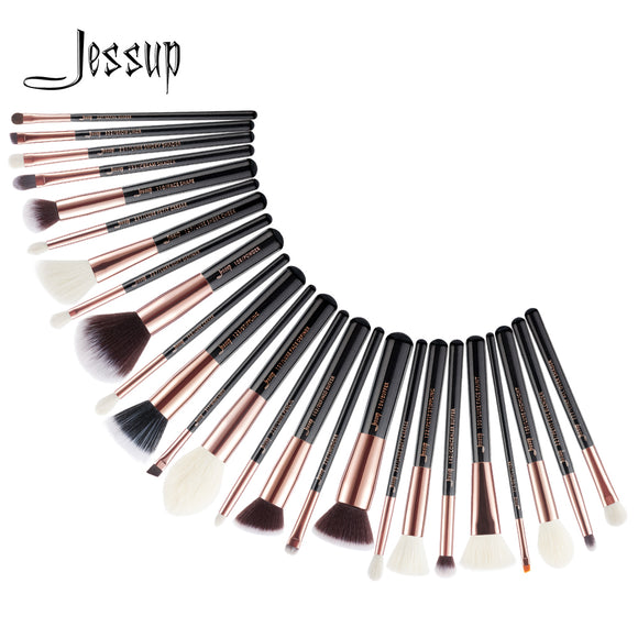 Jessup 25pcs makeup brushes Black/Rose Gold maquiagem profissional completa Foundation Eyeshadow Contour Highlighter Brush T155