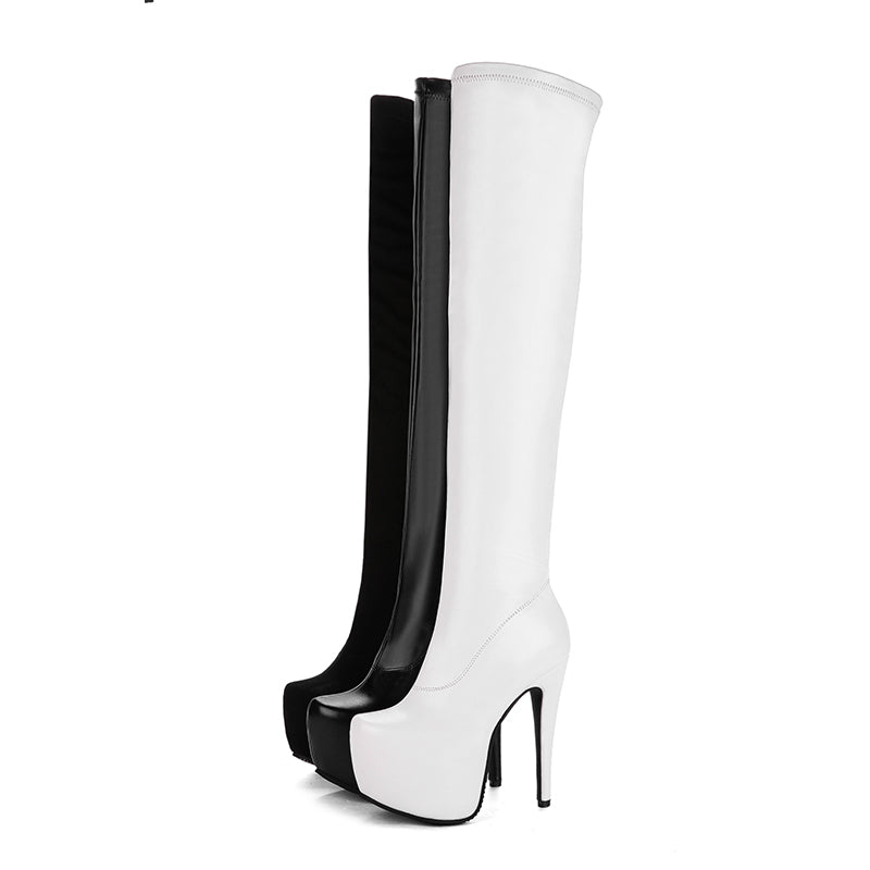 663780a7624 WETKISS Designer Bar Over The Knee Boots New Arrival Women s Super High  Heel Shoes Autumn Stiletto