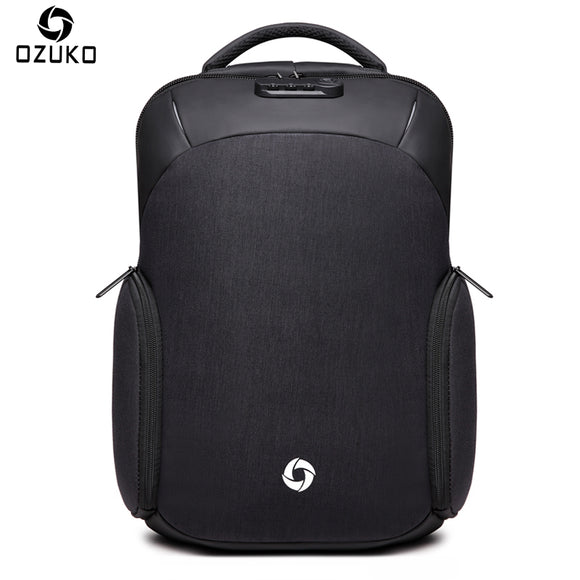 OZUKO Backpack Waterproof Male Mochila External USB Charge 15.6inch Laptop Backpack college Casual schoolbag Anti-thief Backpack