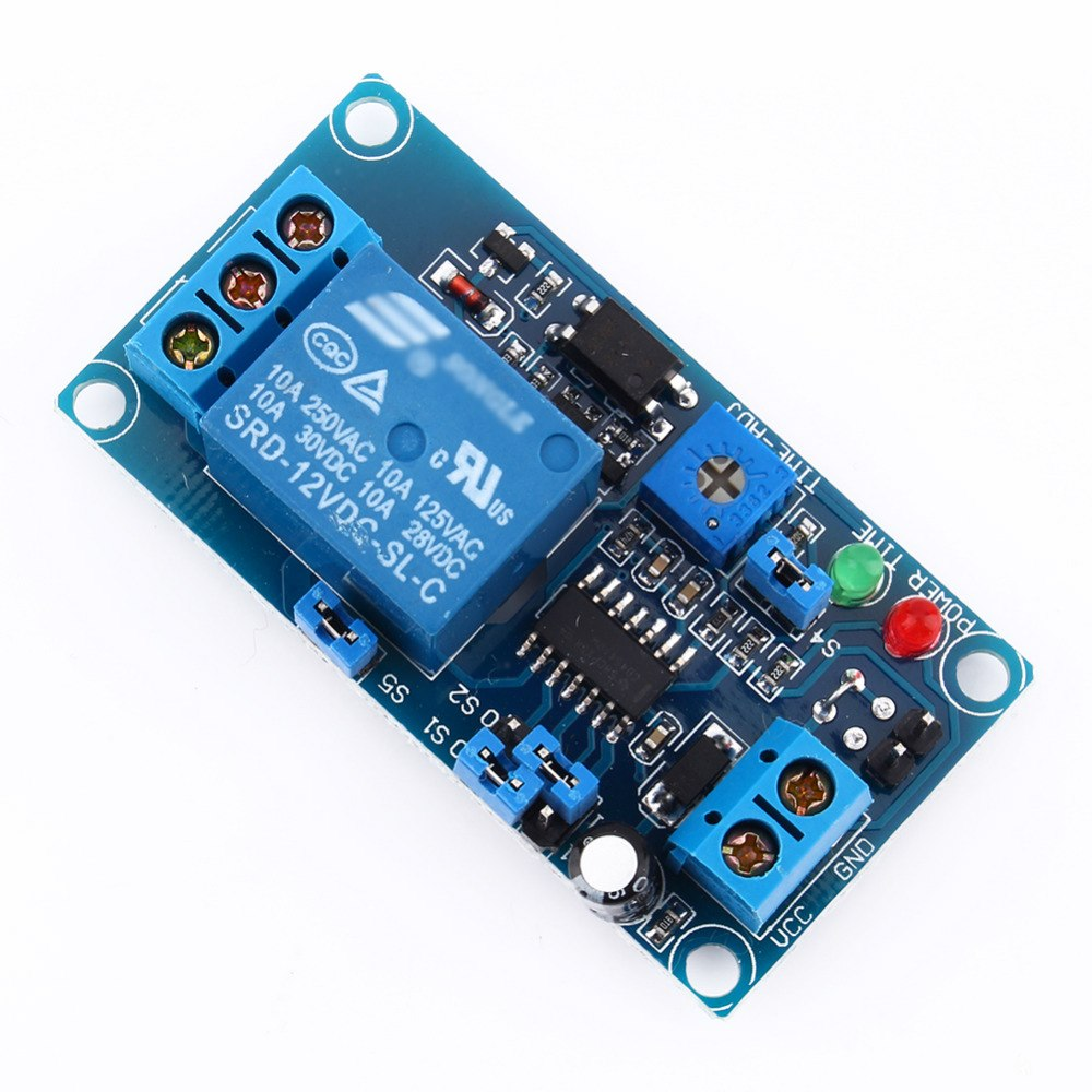 Dc 12v Delay Relay Switch Module Timer Normally Open Trigger 12vdc Circuit