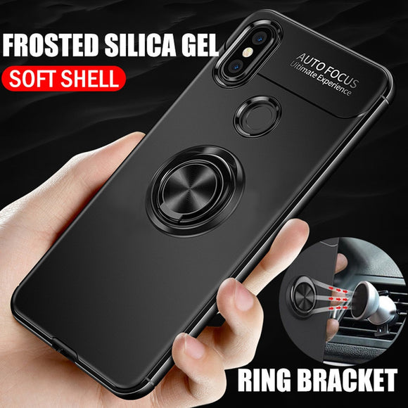 Phone Case For Oneplus 6T Case Ring Cover For Oneplus 6 Case 3D Coque One Plus 6 6T Case Silicone Luxury Holder Stand Cover