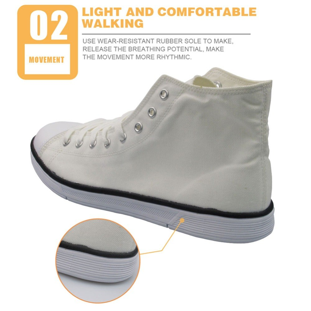 1f9384f411 ... INSTANTARTS Man s High Top Canvas Shoes Rock Music Notes Print Men  Comfortable Classic Sneakers Wholesales Male ...