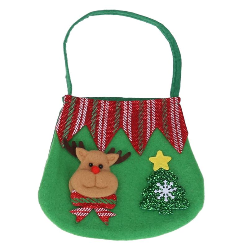 Creative Christmas Tree Pattern Santa Claus Candy Bag Handbag Home Party  Decoration Gift Bag Christmas Xmas e0462db1f0bb9