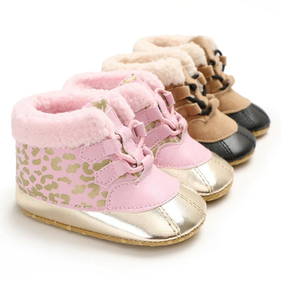 Winter Baby Boys Girls Shoes Winter Russia Babies Warm Shoes Faux Fur Girls Leather Ankle Boots Baby Boots