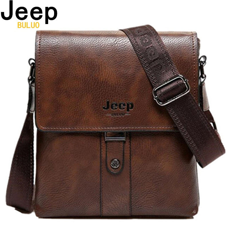 JEEP BULUO Brand Men Bags Cow Split Leather Fashion Male Messenger Bags  Men s Briefcase Man Casual 23cc5b270cd21