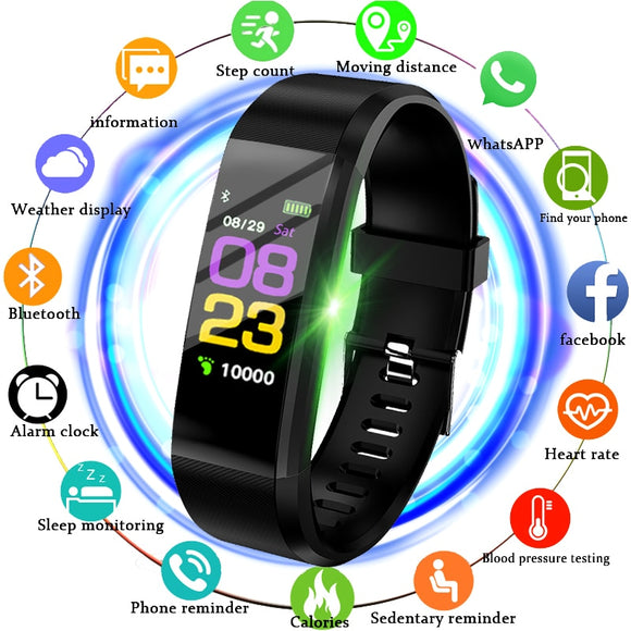 2018 Smart Watch Men Women Sport Watch Waterproof Fitness Tracker Pedometer Watch LED Color Screen Smartwatch For Android ios