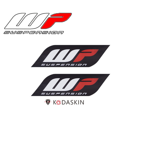 KODASKIN Motorcycle Stickers Raise 3D Emblem Carbon Decals for Wp Suspension