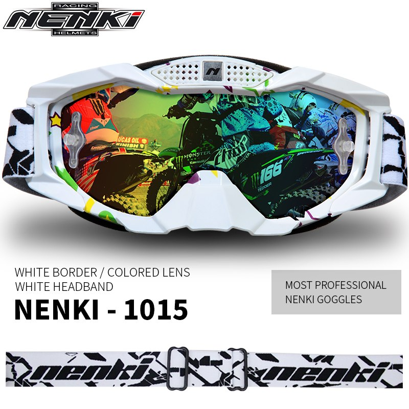 0a380197be0 ... NENKI Lunettes Moto Motorcycle Glasses Men Women Off-Road Glasses  Motocross Goggles MX ATV Dirt ...