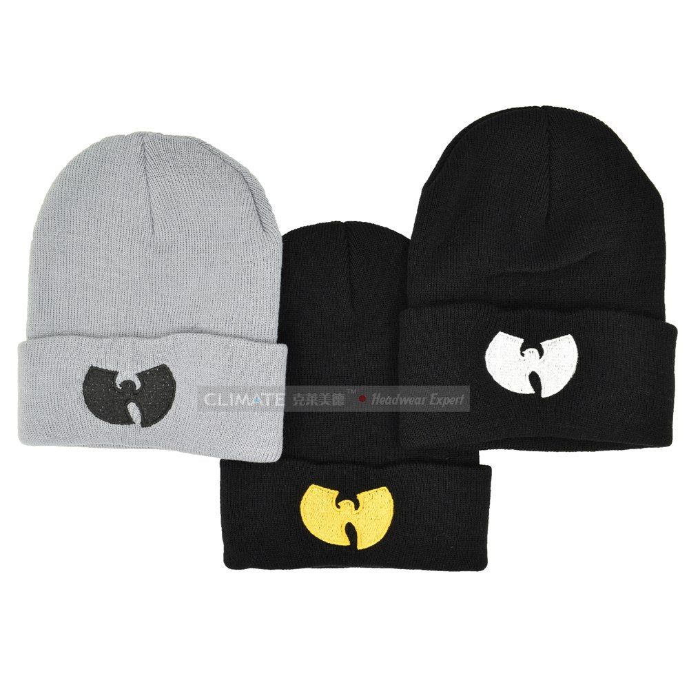 3ef1fb306a0 CLIMATE Men Women Wutang Winter Warm Beanie Hat Musice Skullies Knitted Soft  Wu Tang WU-