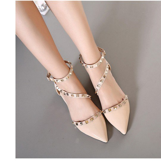 c48dc17c7 Leather Aiykazysdl Women Pointy Toe Oxfords Flat Heel Shoes Ankle Wrap