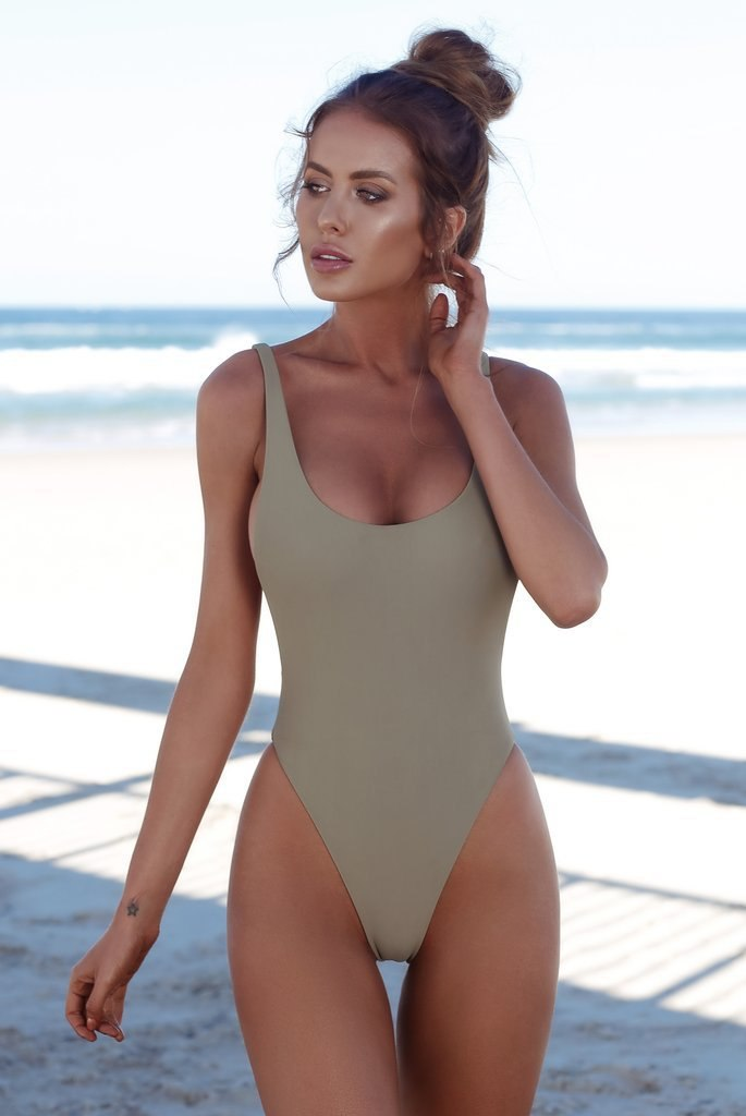 b0d67db883 Thong Black Sexy One Piece Swimsuit Solid Female Women Fused Swimwear
