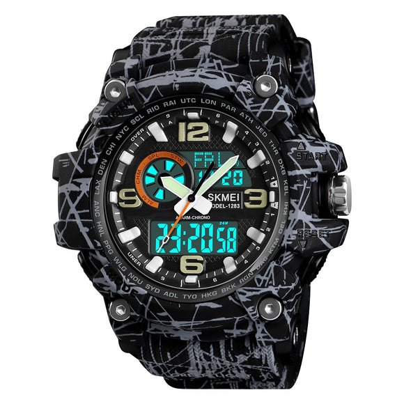 SKMEI Military Sports Watches Dual Display Top Brand Luxury Digital Quartz Watch Men Waterproof Wristwatches relogios masculino