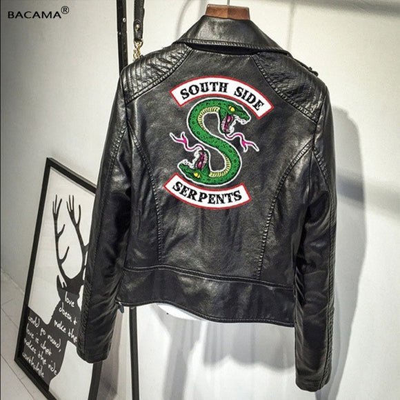 Leather Jackets South side Riverdale PU Leather  serpents Streetwear Leather Brand outwear Streetwear Leather Brand Coat
