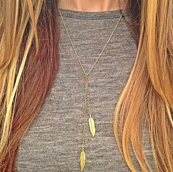 1PCS Simple gold leaf necklace accessories Jewelry short clavicle chain Choker metal Suspension pendant Necklace for women