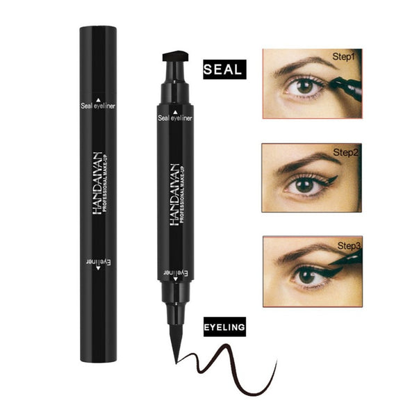 Magic 2-in-1 Dual-ended Eyeliner Makeup Stamp Waterproof Quick Dry Liquid Eyeliner Pencil Makeup Tool