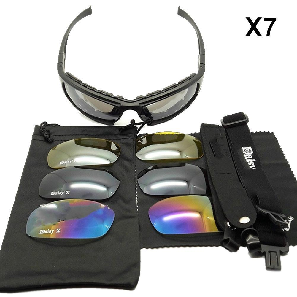 242cad78f9 Daisy X7 Tactical Glasses Polarized Motorcycle Sunglasses Airsoft Paintball  Hiking Military Goggles Hunting Shooting Eyewear