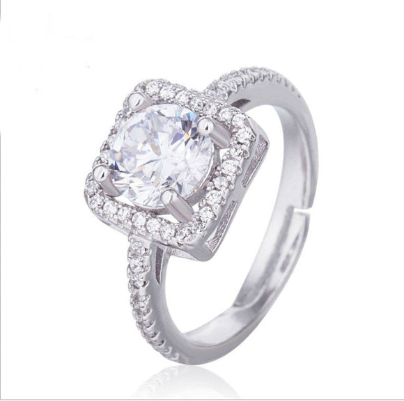 wholesale Limited New Arrival Plant Trendy Unisex Sale Authentic Crystals From Swarovski Fine Jewelry Ring Wedding Ring