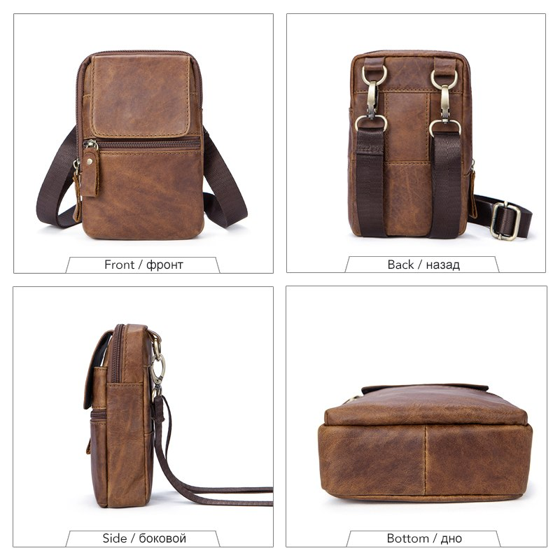 aab0e8bf36 WESTAL Genuine Leather bags belt messenger bag men small waist hip bag for  man heuptas waist