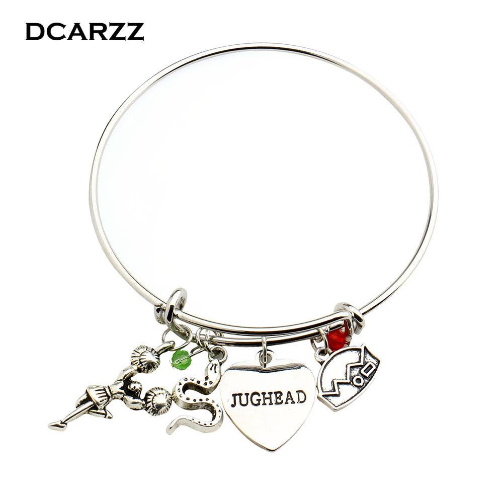 Women's Riverdale Bangle Hand Stamped Letter Jughead
