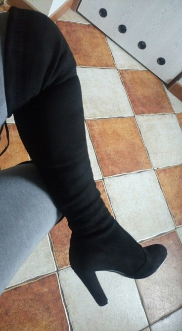 9ad576a4110 Thigh High Boots Women Suede Over the Knee Boots High Heel Sexy Party