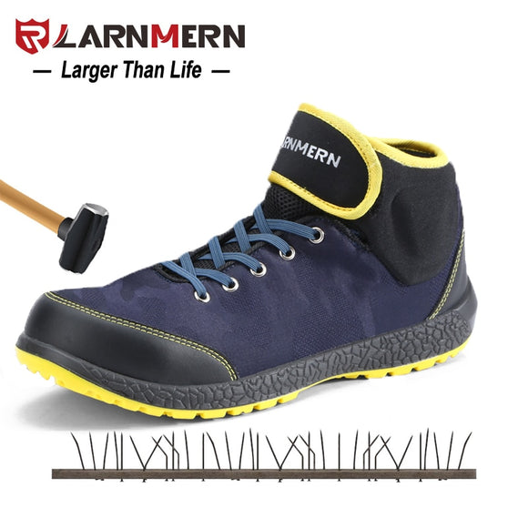 LARNMERN S1P Working Safety Boots Shoes For Men Steel Toe Industry Security Footwear Work botas hombre Anti-static Anti-puncture