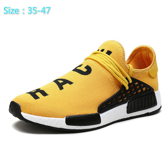 Men Outdoor Trainers Zapatillas Deportivas Hombre Tenis masculino adulto Breathable Casual Superstar Shoes Human Race Shoes-Shoes-Zodeys-Black-10-Zodeys