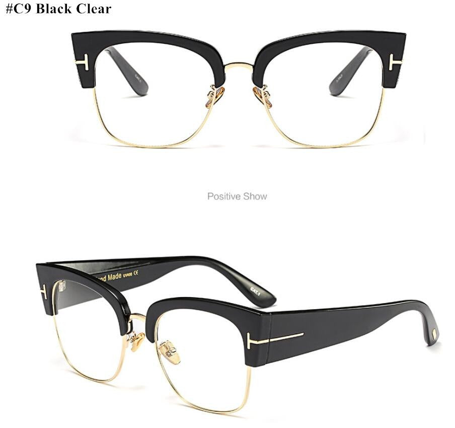 1eb859e0484 Fashion Ladies Oversized Cat Eye Sunglasses Women Vintage Luxury Brand  Designer Big Frame Sun Glasses Tom