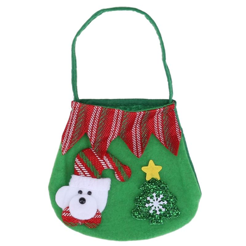 6171149f89b9 Creative Christmas Tree Pattern Santa Claus Candy Bag Handbag Home Party  Decoration Gift Bag Christmas Xmas