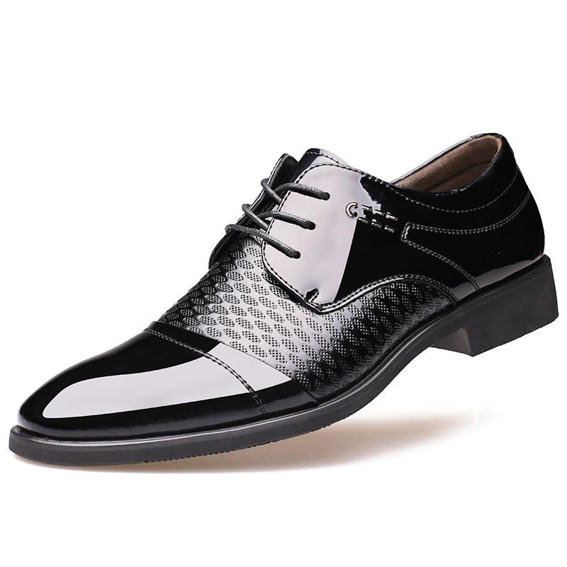 Breathable Pointed Toe Oxford Mens Footwear Formal Dress Shoes Man