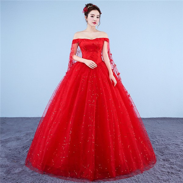 ... New 2018 Plus Size O-neck White Red A-line Floor Length Wedding Dresses  ... cd17edec8adb